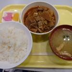 新井食堂 - 料理写真:もつ煮定食 690円