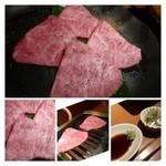 神楽 - ◆ミスジ(ハーフ:1380円)・・お値段もそれなりにしますが、さしの具合もよく美味しい。 柔らかいのでより美味しく思えます。わさび醤油が合いますね。