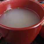 あさひ亭 - 蕎麦湯