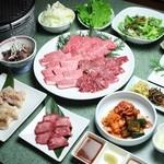 焼肉 あいうえお - 料理写真:ぜいたくコース(飲み放題付で5000円ぽっきり)