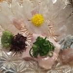 遊山魚料理 - カワハギお造り