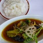 30898717 - 自家製野菜のスープカレー950円