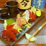 旬魚菜 正や - 彩り華やかなお造り