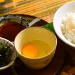旬彩料理 GENKI屋 - 角煮のタレとTKG