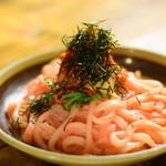 旬彩料理 GENKI屋 - 明太子とキムチのうどん