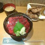 まぐろ 藤田 - 鮪漬け丼&鮪ホホ肉の竜田揚げ