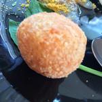 30901576 - 前菜盛り合わせ:蛸とセロリのサラダ・イサキのカルパッチョ からすみのパウダー・ライスコロッケ