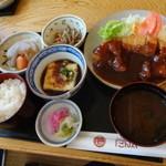 ごん太 - 味噌かつ定食1150円 ※2014年9月