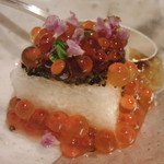 花小路 さわ田 - 長芋とイクラの前菜