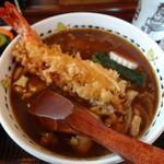 島彦本店 - 天入りカレー蕎麦(1,300円)