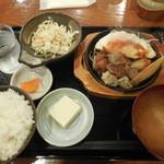 金太郎 - サイコロステーキ定食 ¥500-