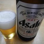 ときわ食堂 - 大瓶ビール