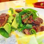 30911239 - ステーキ・サラダ・ご飯