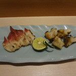 SUSHI 万代 - ホッキとツブの塩焼き