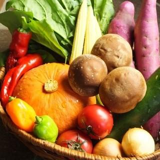 旬のお野菜を「蒸す」「炭焼」で!