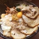 麺家 ぶらいとん - チャーシューあぶらめん!  最近、こころ@大岡山に足が向いていたので数ヶ月ぶりのこちら!  相変わらずの人気ぶり。 隣の方のつけ麺を見ると麺が太く角張って無いように見えるが?