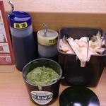 スシロー - スシロー 南葛西店 ガリ・粉末緑茶・醤油など
