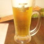 ゑんぞ - 生ビール(480円、プレモル)