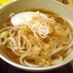 手打ち蕎麦・うどん 彩め - 「小海老天丼セット」たぬきうどん