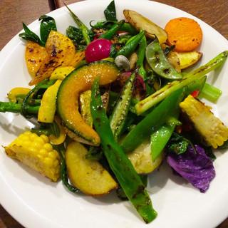 新潟 土筆 - 新潟産色々野菜の盛り合わせ焼き