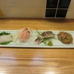 食堂ペスカバ - 地魚ちょこっと4点盛