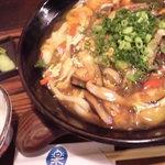 30922636 - 肉と野菜のとじぶっかけ 大盛 白ご飯セット 1200也