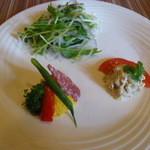 ベルパロッソ - 前菜サラダ