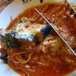 ベルパロッソ - ナスとベーコンのトマトソースパスタ