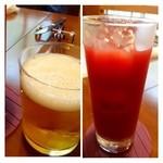 アルベロ - ◆カシスオレンジ(800円)とビール。