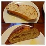 アルベロ - ◆自家製クルミパン・・コベルト料200円ですので、パンが出されます。 美味しいパンでした。