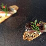 30927940 - ランチ、季節のお料理一品:サンマのカナッペ