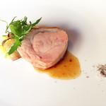 30927994 - ランチメイン:鳥取・大山黒豚のロースト 旬のお野菜を添えて