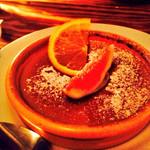 30928875 - 栗のクレームブリュレ。イチジクとオレンジのトッピング。美味し