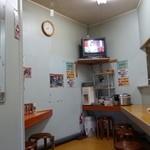 ラーメン家 三八 - (2014/8月)店内はカウンター席のみ
