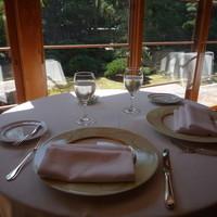 フレンチレストラン 千秋亭-1Fテーブル席から日本庭園を眺めながら頂きました