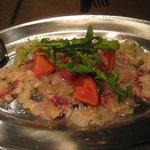 ラ・グラッツァ - 前菜 淡路産真鯛のカルパッチョ