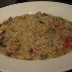 ラ・グラッツァ - カキとポルチーニ茸のリゾット