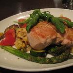 ラ・グラッツァ - 肉料理 徳島産鶏胸肉のロースト