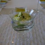 レストランエキリーブレ - 料理写真:豆乳と地場産茶豆のブランマンジェ