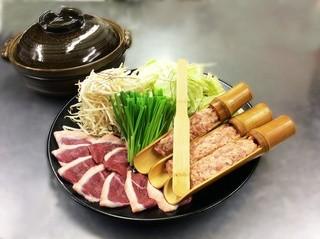 鴨亭 - 鴨亭鍋(ゆず胡椒香るつくね鍋)