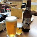 鳥八食堂 - 生ビールと瓶ビール