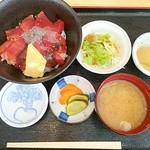 三崎港 海の幸 - 本まぐろ漬け丼
