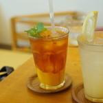 つむぐカフェ - マンゴーのコンフィチュールとジンジャーエール