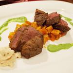 ガネーシュ - 2014年秋を愉しむコース(4300円)のラム肉のグリル