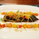 ガネーシュ - 2014年秋を愉しむコース(4300円)のナスの蒸し焼きの前菜