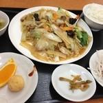 餃子大将 - 料理写真:五目あんかけ焼きそばセット