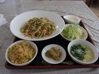 なごむ - 2014.9)上海焼きそばセット(600円)