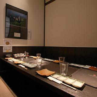 ●完全個室・無煙ロースター完備6名掛けテーブル席