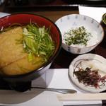 中村藤吉 - きつね抹茶うどんセット¥1,101