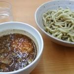 勝神角ふじ - 魚介づけ麺(極太麺)この面は、食べ応えあります(^^)